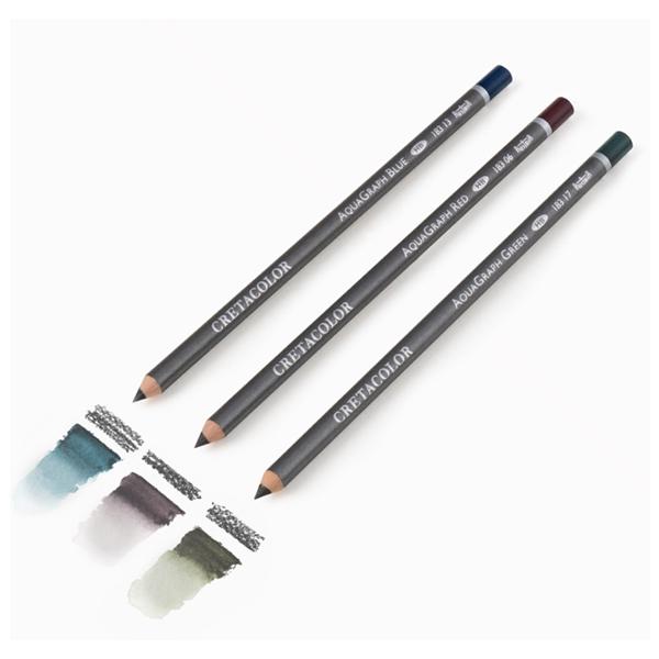 Cretacolor-Aqua-Graph-Aquarell-Graphite-Pencils-Red-Blue-and-Green