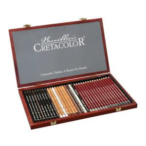 Cretacolor-Sketch-and-Graphite-Wooden-Box-Set-of-36