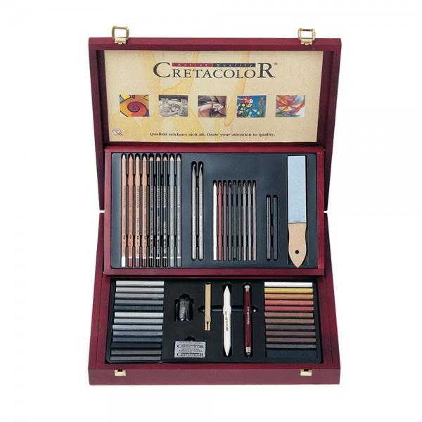 Cretacolor-The-Selection-Wood-Case-Set-of-53