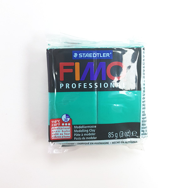 Shop-Soiled-FIMO-Professional-Modeling-Clay-True-Green-85g