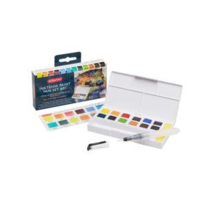Derwent-Inktense-Paint-Pan-Travel-Set-Palette-#01-Colours