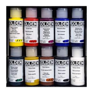 GOLDEN-Principal-10-Professional-Fluid-Acrylic-Set-#-905