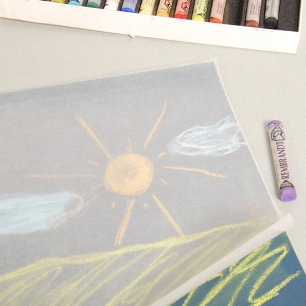 Clairefontaine-Crystal-Paper-Sheets-over-pastel-sketch