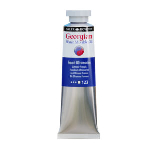 Daler-Rowney-Georgian-Water-Mixable-Oil-Colour-French-Ultramarine-37ml-Tube