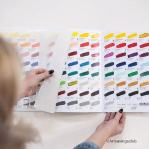 Golden Acrylic Hand Painted Colour Chart 116 Colours 3
