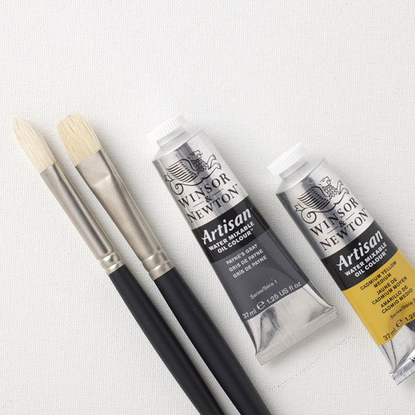 Winsor-and-Newton-Artisan-Water-Mixable-Oil-Colours-with-brushes