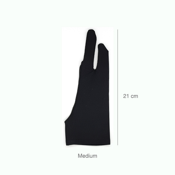 Prime-Art-Artist-Black-Two-Finger-Glove-Medium-Size