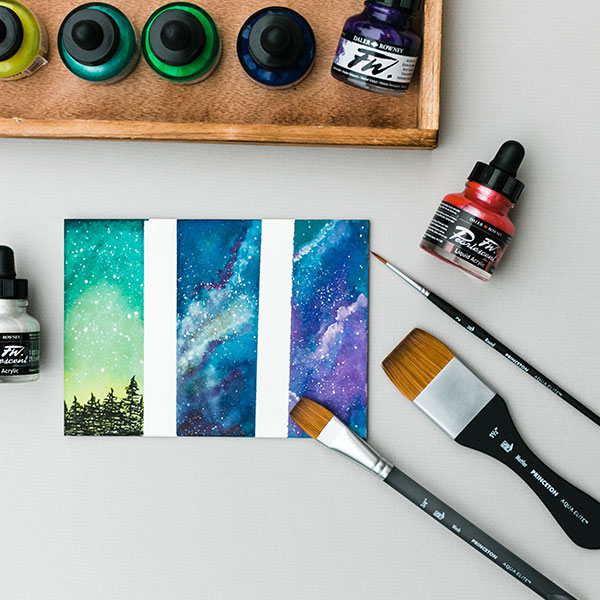 Princeton-Aqua-Elite-Brushes-with-Daler-Rowney-FW-inks