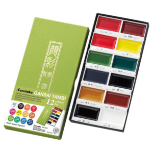 KURETAKE-GANSAI-TAMBI-12-colors-set-Packaging