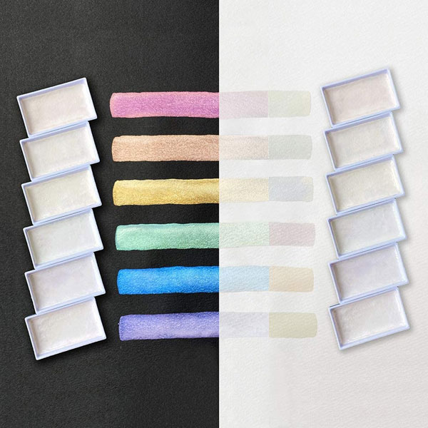 KURETAKE-GANSAI-TAMBI-Opal-Colors-mixing-on-different-backgrounds