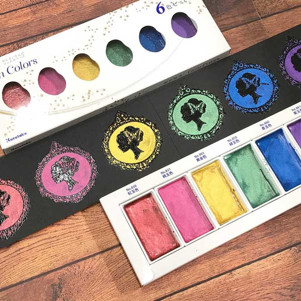 KURETAKE-GANSAI-TAMBI-Set-of-6-Gem-Colors-Sample