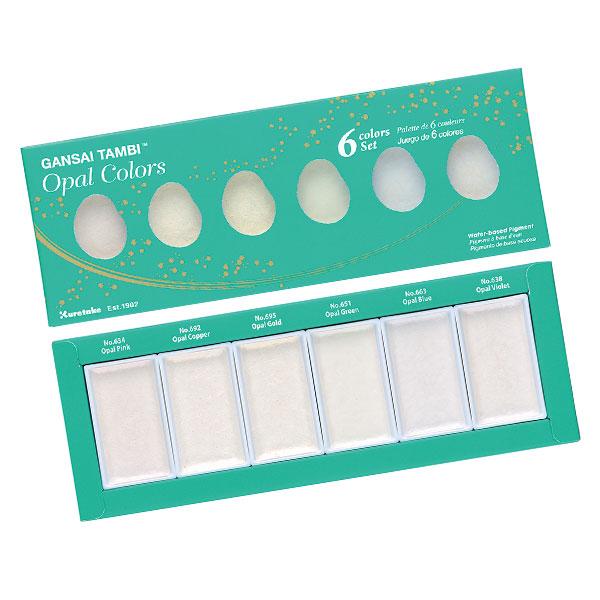 KURETAKE-GANSAI-TAMBI-Set-of-6-Opal-Colors-set-in-Packaging