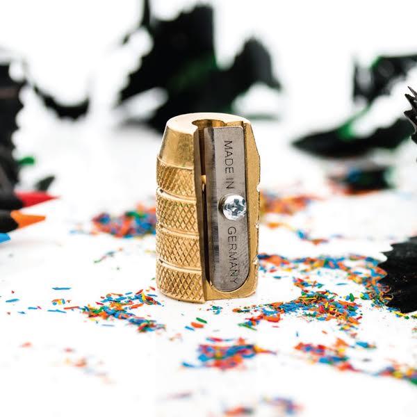 Brass Pencil Sharpener Grenade Lifestyle - Mobius+Ruppert
