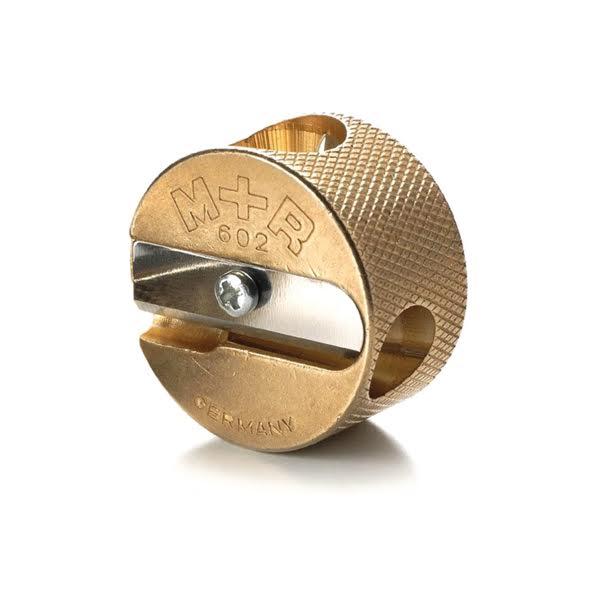 Brass Pencil Sharpener Round - Mobius+Ruppert