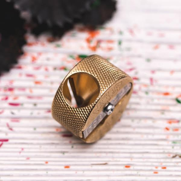 Brass Pencil Sharpener Round Small Hole - Mobius+Ruppert