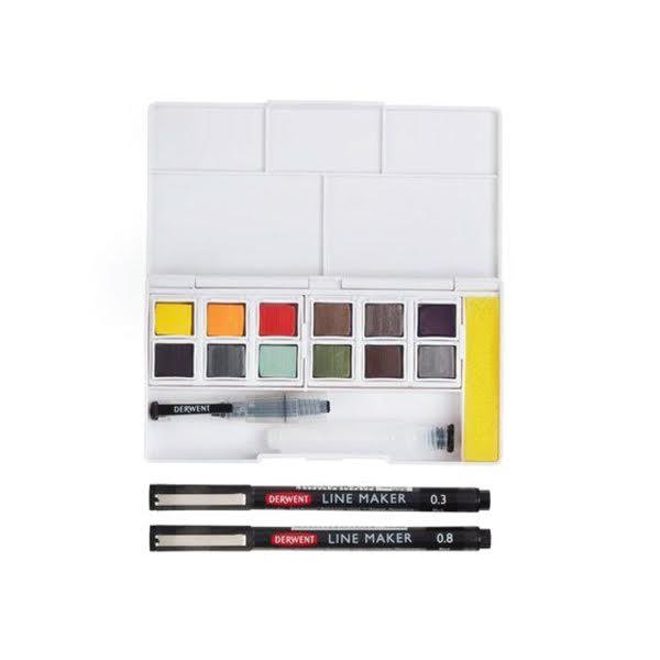 Watercolour Paint Pan Set - Line and wash 2 - Derwent.jpeg