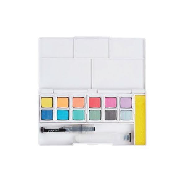 Watercolour Paint Pan Set - Pastel 2 - Derwent