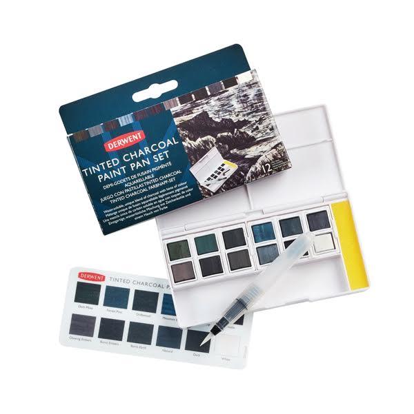Watercolour Paint Pan Tinted Charcoal Set – Derwent