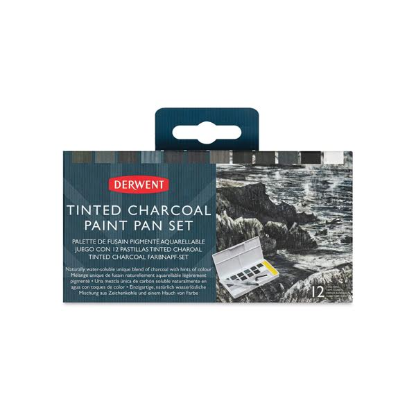 Watercolour Paint Pan Tinted Charcoal Set Pack – Derwent