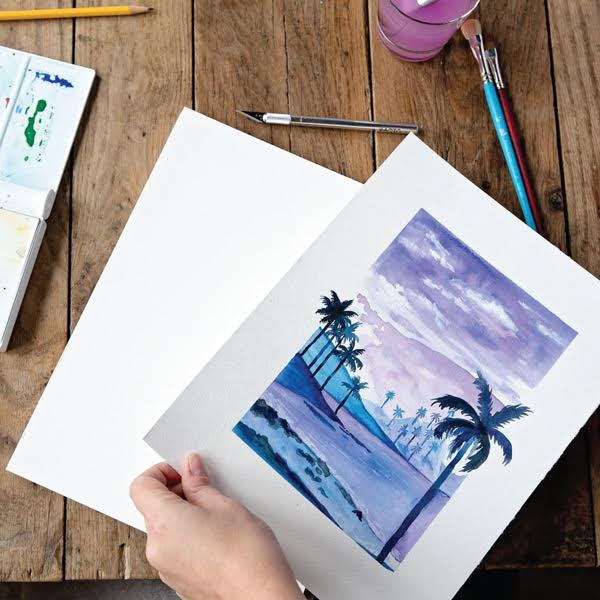 400 Series Watercolor Pads Lifestyle Image Art - Strathmore